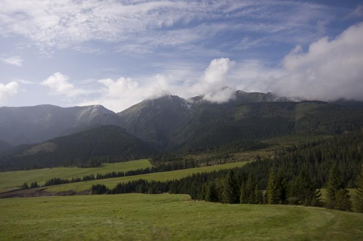 Widok na trasie do Słowackiego Raju